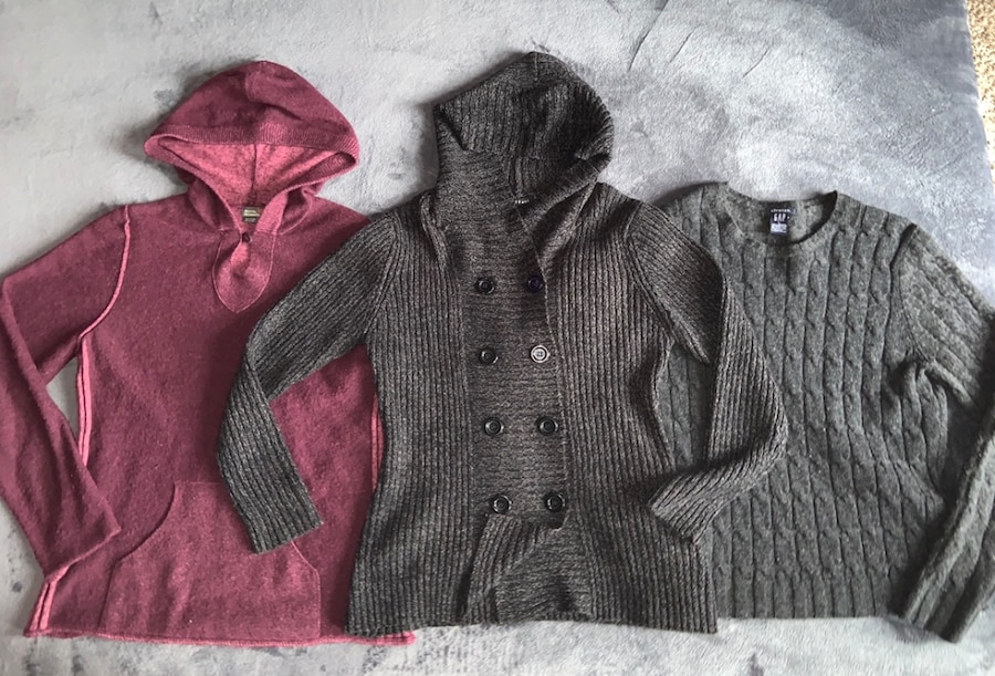 Womens Large Sweaters GAP, Royal Robbins, and Effeci