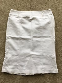 "Loft, white ,cotton material.Awesome pencil style and u can whear it with a belt .size 4P""  Alexandria, 22312"