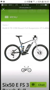 Bosch electric assist mountain bike