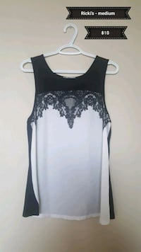 women's black and gray sleeveless top Calgary, T2V 2X4