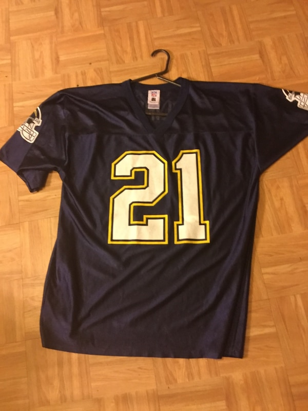 best website e04d4 a1c30 Blue and yellow San Diego chargers football greats Drew Brees LT Antonio  Gates jerseys size large