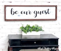 Hand made Guest Bedroom Sign with Mahogany Frame Las Vegas, 89148