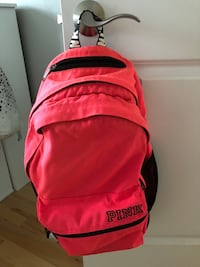 Black and pink PINK backpack 1313 km