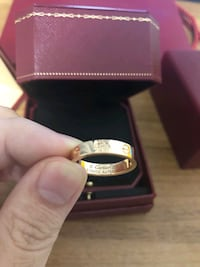 18k pink (rose) GOLD Cartier LOVE ring Los Angeles, 90014