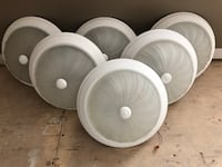 6 White Textured Flush Mount Ceiling Light Fixtures (Only 2 left) Pickering, L1V