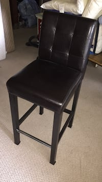Dark brown leather bar stool null, V0R