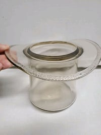 Vintage Clear Glass ~ Top Hat ~ Vase Planter