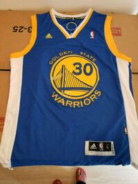 blue and yellow Adidas Golden State Warriors jersey Annandale, 22003