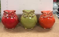 three red and yellow ceramic vases Sparks, 89434