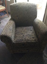 gray and white floral sofa chair Woodstock, 30188