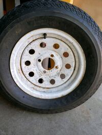 Trailer tire B78-13.  Bad rim