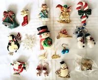 Vintage Lot CHRISTMAS Brooches Pins Earrings Lot #1