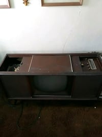 1970 Antique Radio Record Player and TV
