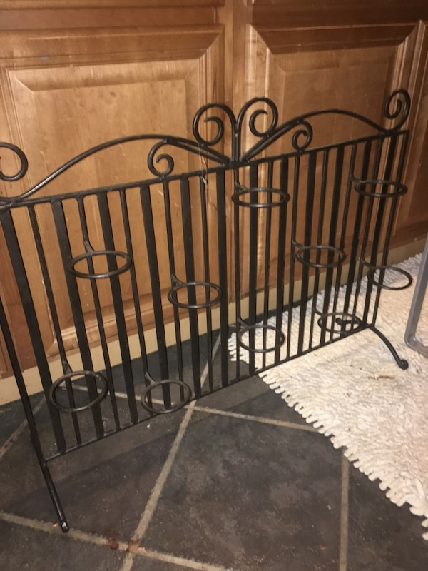 Steel Fireplace Screen/Votive Candle Holder