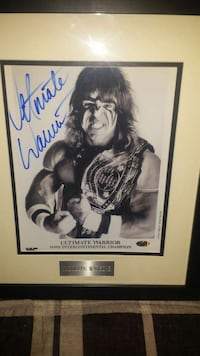 autographed Ultimate Warrior photo