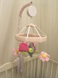 Babys White Turtle Design And Flower Crib Mobile