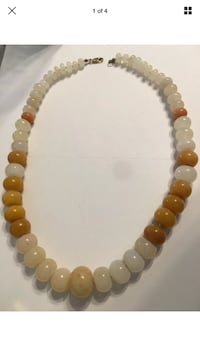 Large Natural Stone Beaded Necklace With Gold Filled Clasp Las Vegas, 89109