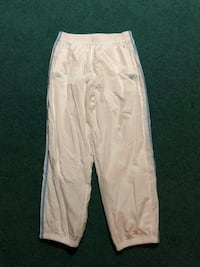 White and gray track pants 2413 mi