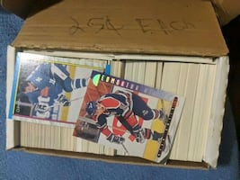 boxes of hockey cards