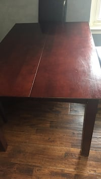 rectangular brown wooden dining table Mississauga, L5G 2S6