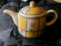 Cute Little Yellow Personal Teapot