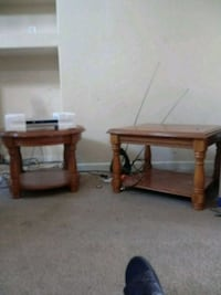 two brown wooden side tables Smyrna, 37167
