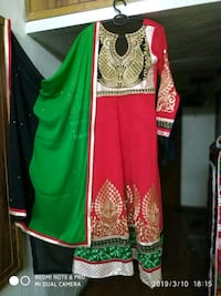 green and red floral sleeveless dress New Delhi, 110064