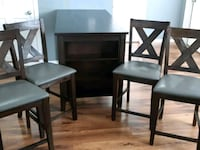 two black wooden framed padded chairs Langley, V2Y 3H2