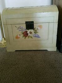 white wooden floral print chest Jacksonville, 32218