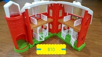 red and white plastic dollhouse Edmonton, T6T