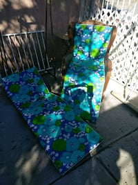 Vintage lounge chair cushions covers patio