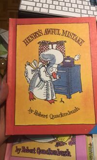Henry's awful mistake - hard cover - vintage 80's kids books