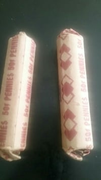 2 rolls of wheat pennies.