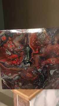 red and black fluid abstract painting Candler, 28715