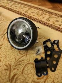 Cafe racer far headlight