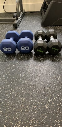 Four assorted color fixed weight dumbbells Vienna, 22180