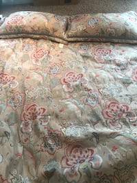 white, pink, and green floral bed sheet Chapin, 29036