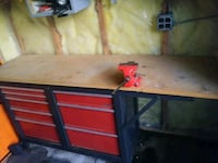 red and black metal tool cabinet Battle Creek, 49037