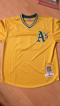 mitchell and ness mlb jersey rickey henderson size 52 xxl