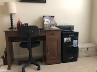 Desk and filing cabinet  Ashburn