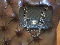 Chanel black flap handbag SF