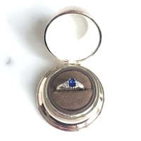 Maison Birks Blue Sapphire & Diamond Ring in 18K White Gold Oakville