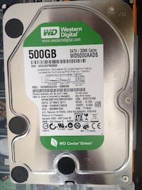 500 GB HARDDİSK 2 ADET WESTERN DİGİTAL
