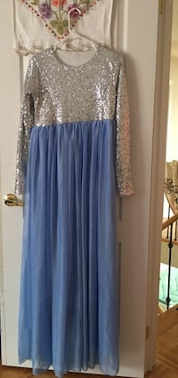 women's silver and blue sleeveless dress Vaughan, L4H 3L3