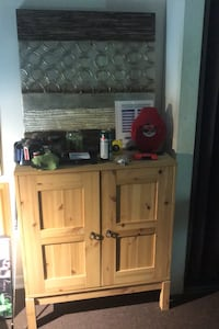 Artwork and cabinet