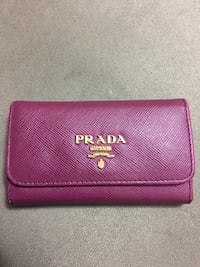 Red leather michael kors wallet