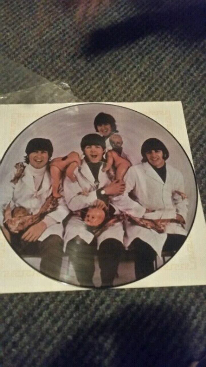 Photo The Beatles Butcher Block album yesterday and today