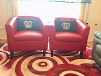 Red armchair sofas set of two ( new condition) Longueuil, J4M 1X7