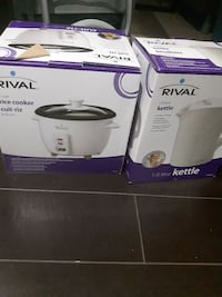 rice cooker and kettle.