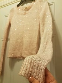 Red Camel pale pink sparkle sweater